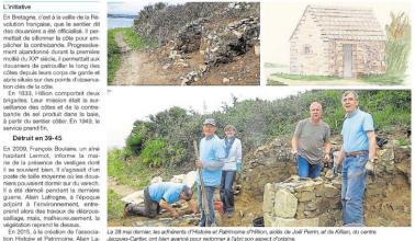 article journal - abri douanier de Saint-Guimont