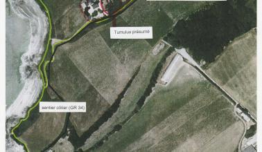 Vue aérienne du Tumulus - Maison de la Baie