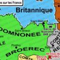 Carte de la Bretagne au IXe siècle