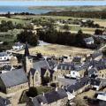 Le bourg en 1970 avant la construction du Foyer Rural et de la cantine scolaire